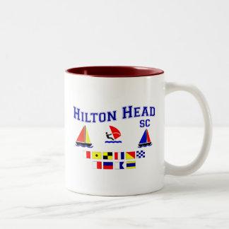 Hilton Head SC Signal Flags Coffee Mugs