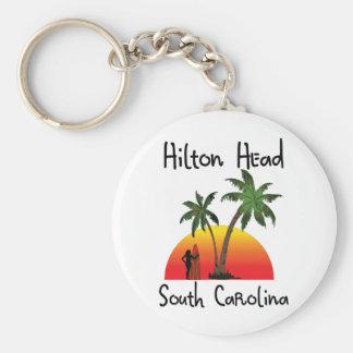 Hilton Head South Carolina Basic Round Button Keychain