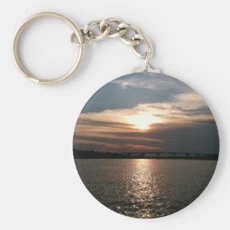 Hilton Head Sunset Basic Round Button Keychain
