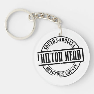 Hilton Head Title Single-Sided Round Acrylic Keychain