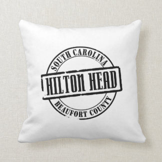 Hilton Head Title Throw Pillow
