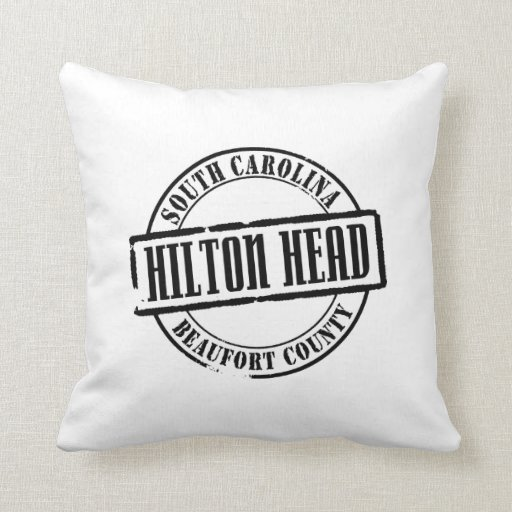 Hilton Head Title Throw Pillows