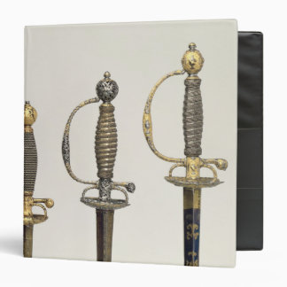 Hilts of three French swords: one of steel 3 Ring Binder