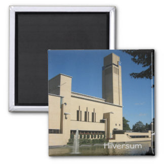 Hilversum town hall 2 inch square magnet