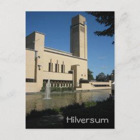 Hilversum town hall postcard