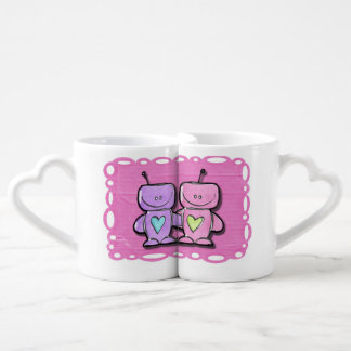 Him and Her Robot Love Mugs