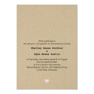 Him and Her Wedding Invitation