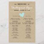"Him and Her Wedding Program<br><div class=""desc"">Simple wedding program to match Him and Her Wedding Suite with light aqua/blue accents</div>"