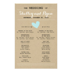 Him And Her Wedding Program at Zazzle
