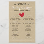 """Him and Her Wedding Program<br><div class=""""desc"""">Simple wedding program to match Him and Her Wedding Suite with red accents</div>"""