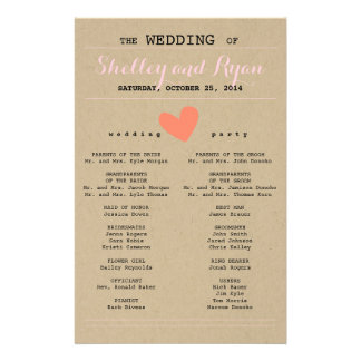 Him and Her Wedding Program