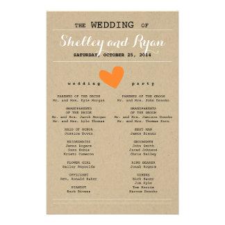 Him and Her Wedding Program