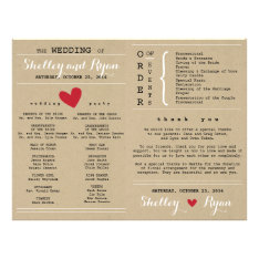 Him And Her Wedding Program Fan at Zazzle
