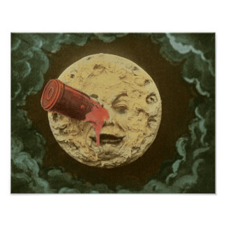 Him voyage dans the lune_Color Poster