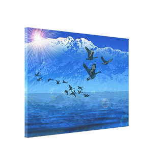 Himalaya2 Stretched Canvas Print