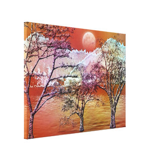 Himalaya 15 Wrapped Canvas Stretched Canvas Print