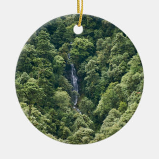 Himalaya forest in the Mangdue valley, Bhutan Double-Sided Ceramic Round Christmas Ornament