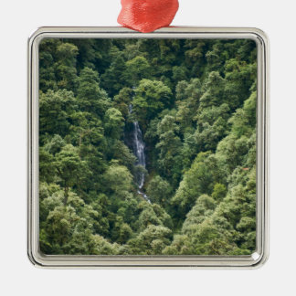 Himalaya forest in the Mangdue valley, Bhutan Square Metal Christmas Ornament