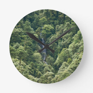 Himalaya forest in the Mangdue valley, Bhutan Round Clock
