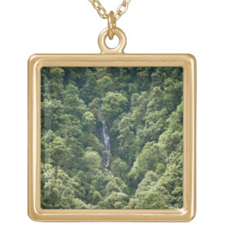 Himalaya forest in the Mangdue valley, Bhutan Square Pendant Necklace