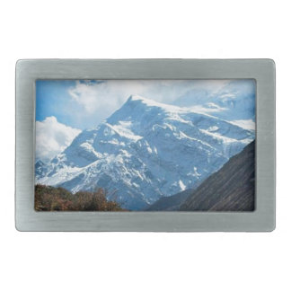 Himalaya Mount Everest India Nepal Travel Summer Rectangular Belt Buckles