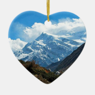 Himalaya Mount Everest India Nepal Travel Summer Ceramic Ornament