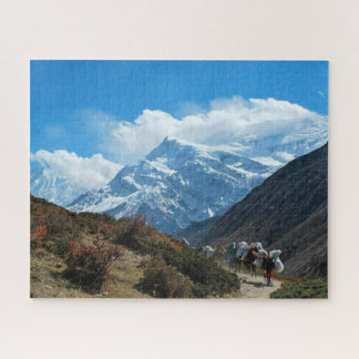 Himalaya mountain india nepal nature snow jigsaw puzzle