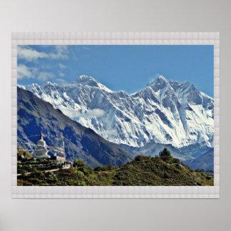 HIMALAYA Mountains and Glaciers :CRYSTAL Border Print