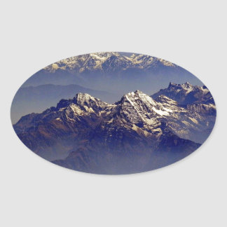 Himalaya Sud Avion Oval Sticker