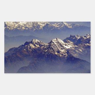Himalaya Sud Avion Rectangular Sticker