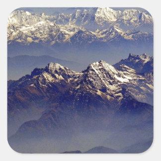 Himalaya Sud Avion Square Sticker