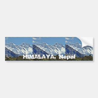 HIMALAYA - una de 1000 visiónes desde NEPAL Etiqueta De Parachoque