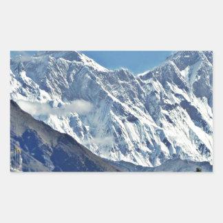 HIMALAYA - una de 1000 visiónes desde NEPAL Pegatina Rectangular