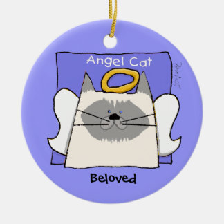 Himalayan Cat Angel Personalize Ceramic Ornament
