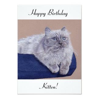 """Himalayan Cat Birthday Card 5"""" X 7"""" Invitation Card"""