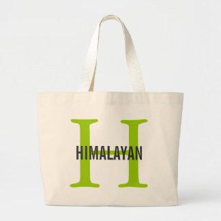 Himalayan Cat Breed Monogram Tote Bag