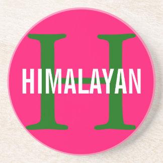Himalayan Cat Breed Monogram Drink Coaster