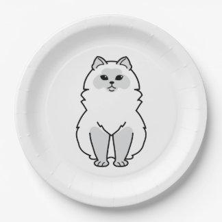 Himalayan Cat Cartoon Paper Plate