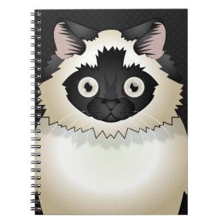 Himalayan Cat Cartoon Paws Note Book