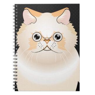 Himalayan Cat Cartoon Paws Spiral Notebook