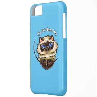 Himalayan Cat IAAM Aqua Blue Case For iPhone 5C