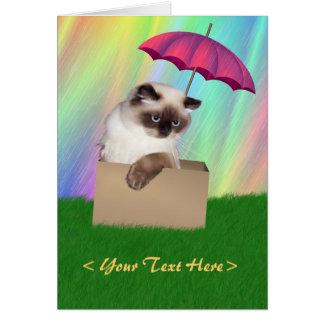 Himalayan Cat in Box Card