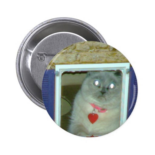 Himalayan Cat Kitty Hat, tee, mousepad, gift, cute Pinback Button