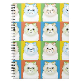 Himalayan Cat Pop-Art (Cream) Notebook