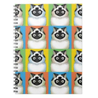 Himalayan Cat Pop-Art (Seal) Notebooks
