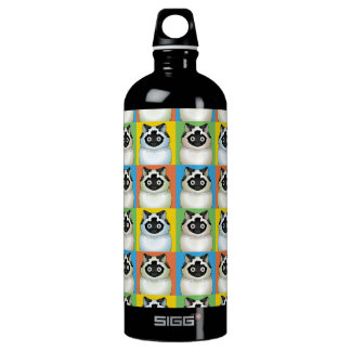 Himalayan Cat (Seal-Point) Cartoon Pop-Art Water Bottle