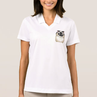 Himalayan Cat (Seal-Point) Personalized Polo T-shirts