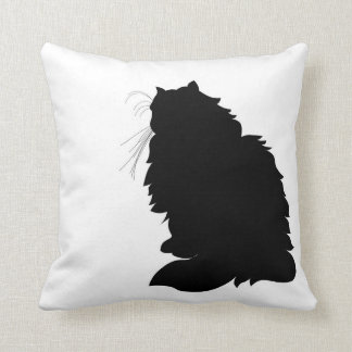 Himalayan Cat Silhouette Pillow