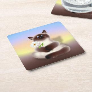 Himalayan Cat Square Paper Coaster