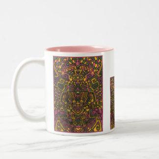 Himalayan Inspirations Arty Mug! Two-Tone Coffee Mug